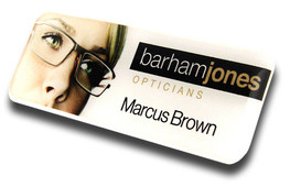 Standard plastic name badges - No border and white background | www.namebadgesinternational.co.uk